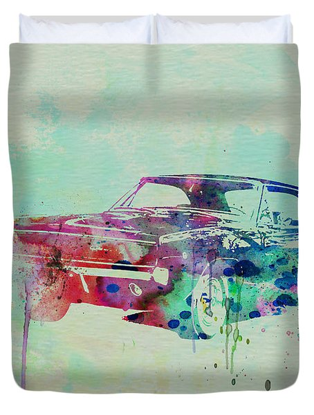 1967 Dodge Charger  2 Duvet Cover by Naxart Studio