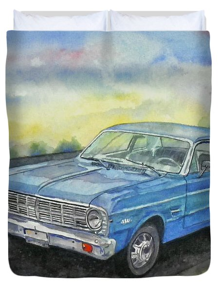 1967 Ford Falcon Futura Duvet Cover by Anna Ruzsan