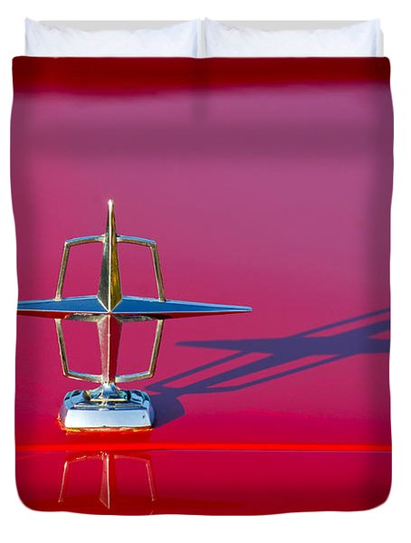 1967 Lincoln Continental Hood Ornament -158c Duvet Cover