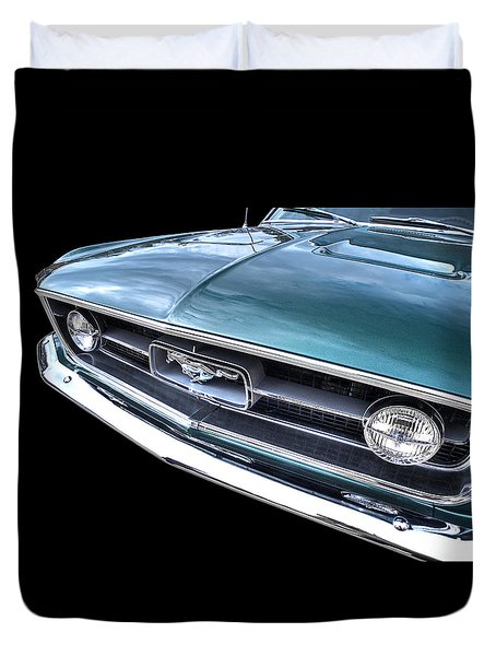 1967 Mustang Grille Duvet Cover