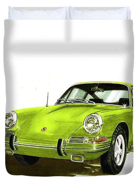 Porsche 911 Sportscar Duvet Cover by Jack Pumphrey