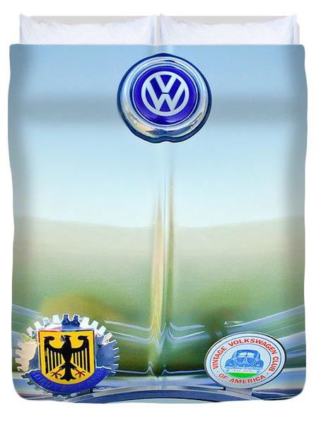 1967 Volkswagen Vw Karmann Ghia Hood Emblem Duvet Cover