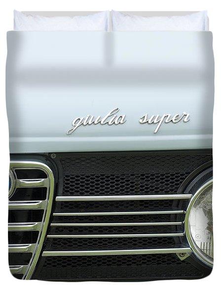 1968 Alfa Romeo Giulia Super Grille Duvet Cover by Jill Reger