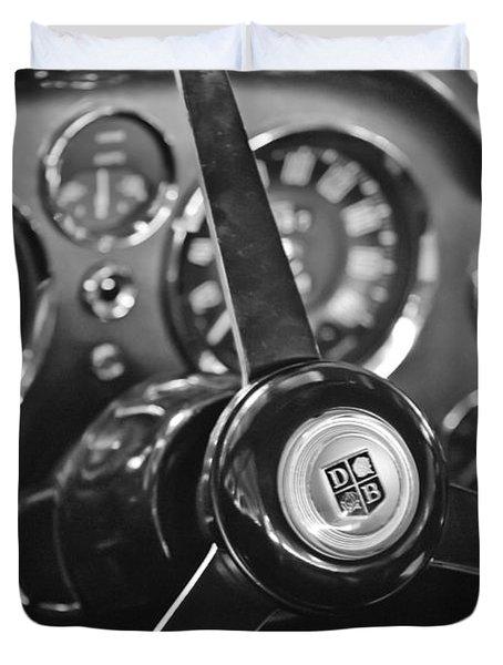 1968 Aston Martin Steering Wheel Emblem Duvet Cover