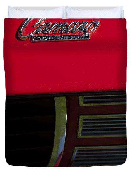 1969 Chevrolet Camaro Rally Sport Emblem Duvet Cover by Jill Reger