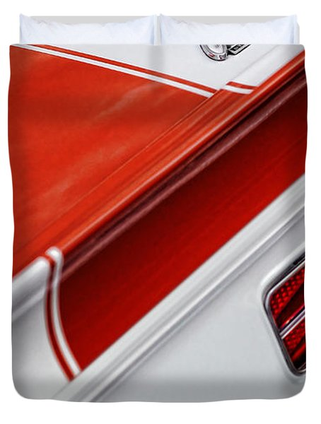 1969 Chevrolet Camaro Ss Indianapolis 500 Pace Car Rear Shot Duvet Cover by Gordon Dean II