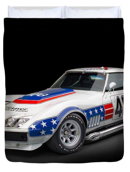 1969 Chevrolet Stars And Stripes L88 Zl-1 Corvette Duvet Cover by Gianfranco Weiss