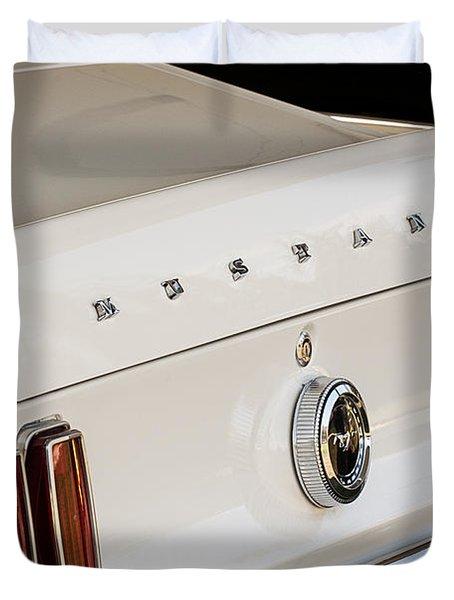 1969 Ford Mustang Boss 429 Taillight Emblem Duvet Cover by Jill Reger