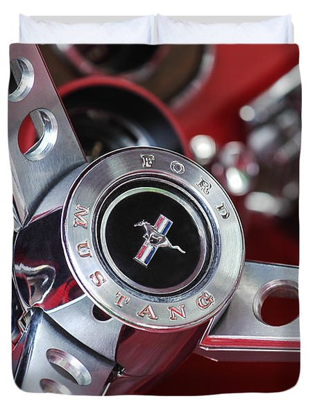 1969 Ford Mustang Mach 1 Steering Wheel Duvet Cover