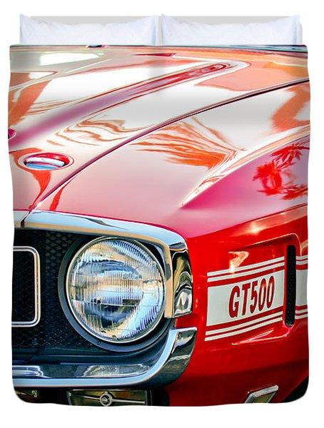 1969 Shelby Cobra Gt500 Front End - Grille Emblem Duvet Cover