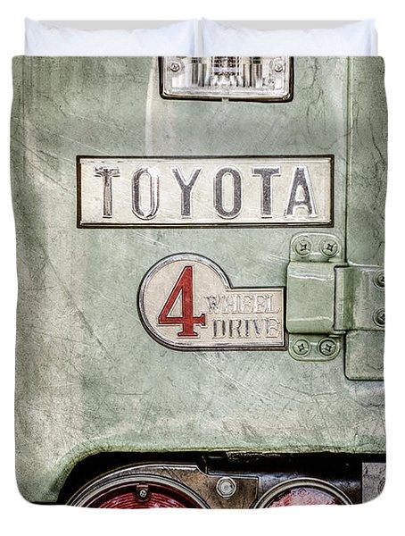 1969 Toyota Fj-40 Land Cruiser Taillight Emblem -0417ac Duvet Cover