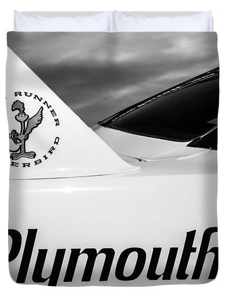 1970 Plymouth Superbird Emblem -0520bw Duvet Cover