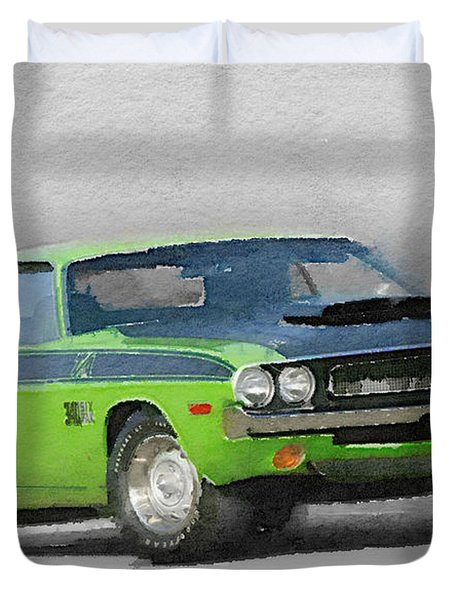 1970-ta-challenger Watercolor Duvet Cover