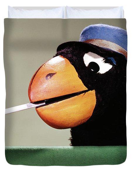 1970s Parrot Head Costume Cigarette Duvet Cover