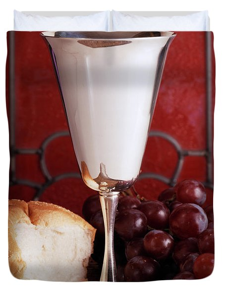 1970s Silver Communion Chalice Wine Duvet Cover