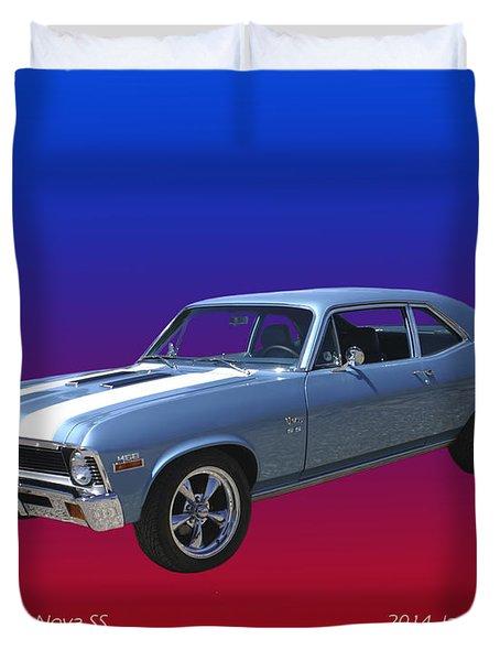 1971 Chevy Nova S S Duvet Cover by Jack Pumphrey