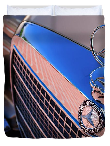 Duvet Cover featuring the photograph 1971 Mercedes-benz 280se 3.5 Cabriolet  by Jill Reger