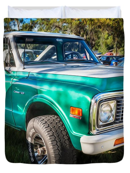1972 Chevy Pickup Custom 10 C10 Painted   Duvet Cover