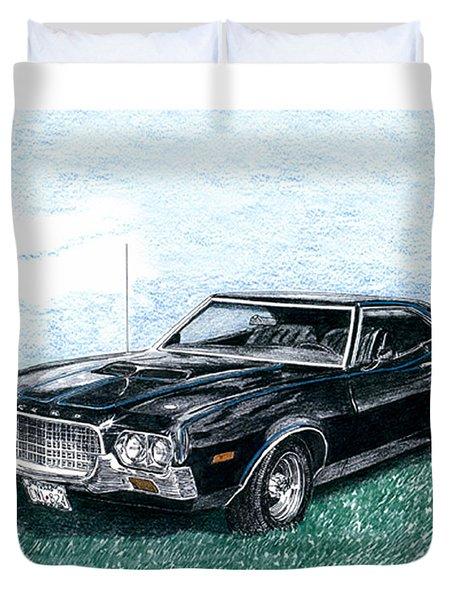 Ford Gran Torino Sport Duvet Cover
