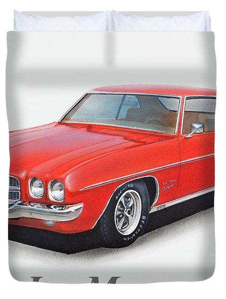 1972 Pontiac Lemans With Text Duvet Cover