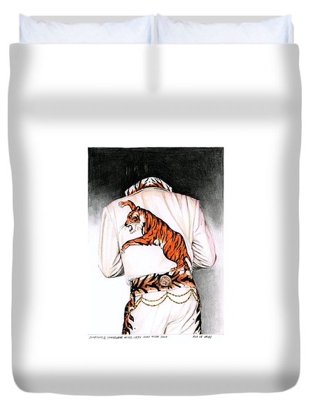 1974 Mad Tiger Suit Duvet Cover by Rob De Vries