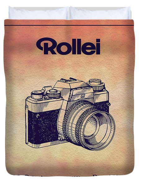 1979 Rollei Camera Patent Art 1 Duvet Cover
