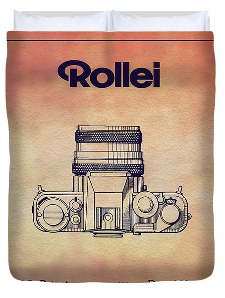 1979 Rollei Camera Patent Art 2 Duvet Cover