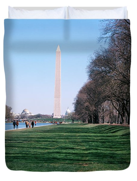 1980s Washington Monument Dc Usa Duvet Cover