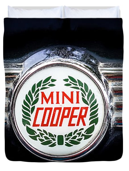 1982 Austin Mini Cooper Badge Duvet Cover
