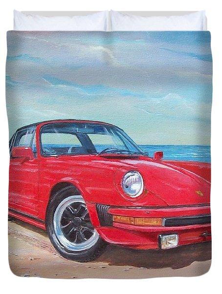 1985 Porsche 911 Targa Duvet Cover