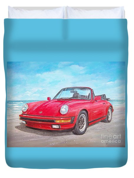 1987 Porsche Carrera Cabriolet Duvet Cover