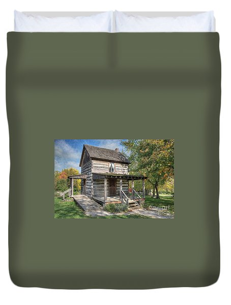 19th Century Cabin Duvet Cover