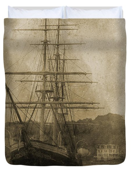 19th Century Schooner Duvet Cover