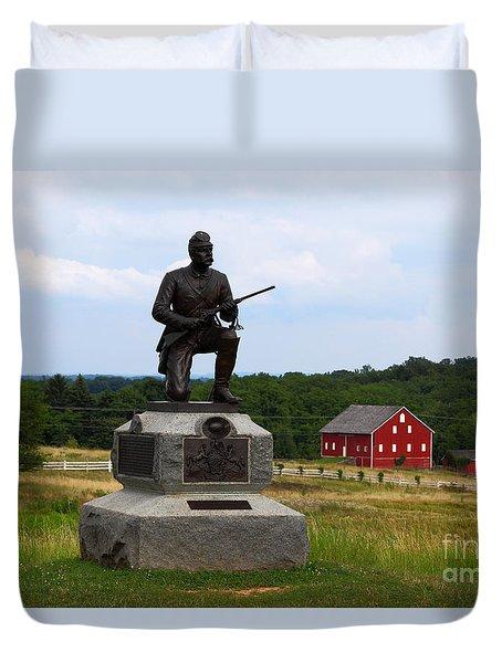 1st Pennsylvania Cavalry Defending Cemetery Ridge Duvet Cover by James Brunker