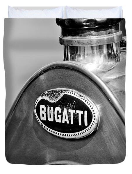 1920 Bugatti Type 13 Grille Emblem Duvet Cover by Jill Reger