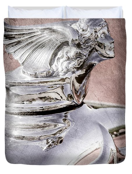 1927 Buick Goddess Hood Ornament Duvet Cover