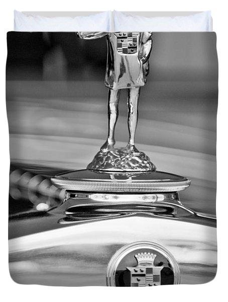 1929 Cadillac 1183 Dual Cowl Phaeton Hood Ornament Duvet Cover by Jill Reger