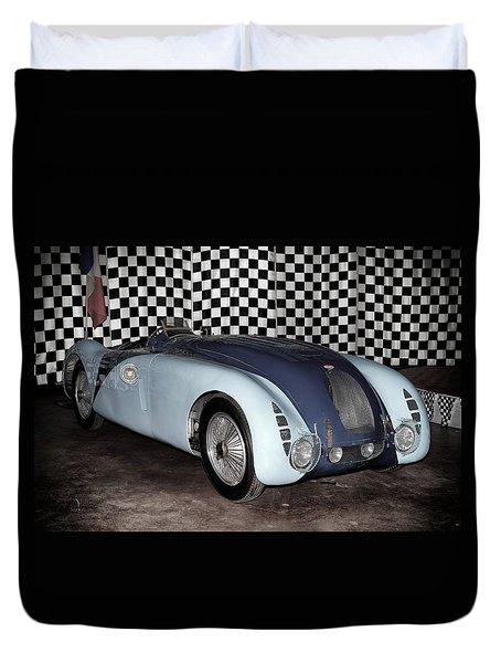 1936 Bugatti 57g Tank Duvet Cover