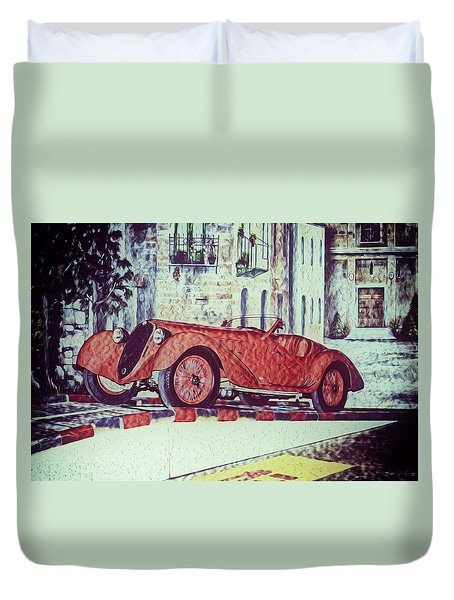 1937 Alfa Romeo 8c 2900a Duvet Cover