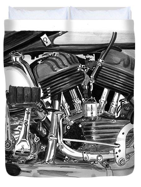 Harley Davidson W L A Duvet Cover