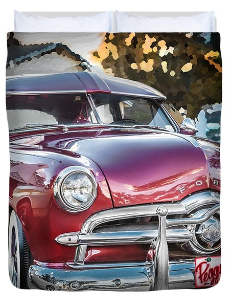 1949 Ford 2 Door Custom  Duvet Cover