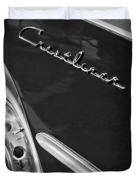 1951 Ford Crestliner Emblem - Wheel Duvet Cover by Jill Reger