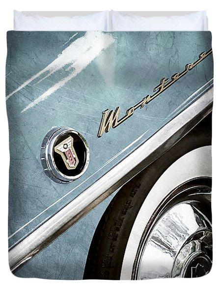 1955 Mercury Monterey Wheel Emblem Duvet Cover