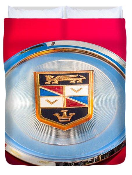 1960 Chrysler Imperial Crown Convertible Emblem Duvet Cover by Jill Reger
