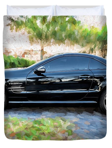 2006 Mercedes Benz Sl55 V8 Kompressor Coupe Painted  Duvet Cover