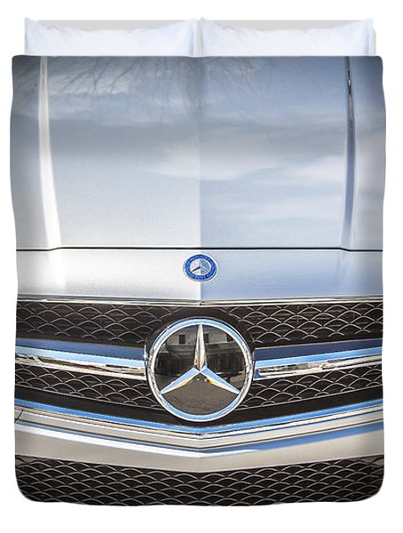 2012 Mercedes Cls 63 Amg Twin Turbo Bw Duvet Cover by Rich Franco
