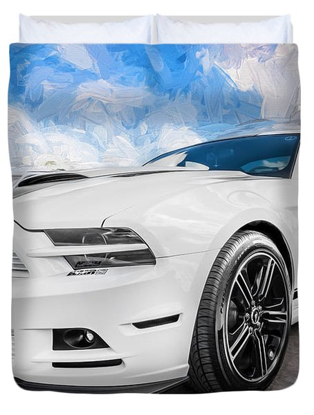 2014 Ford Mustang Gt Cs Painted  Duvet Cover