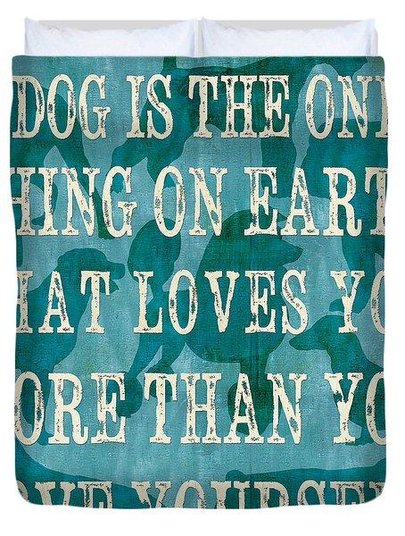 A Dog Duvet Cover by Debbie DeWitt