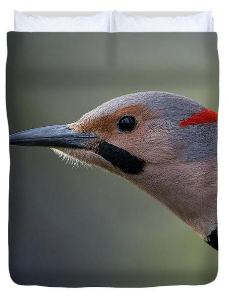 A Northern Flicker In The Hollow Duvet Cover
