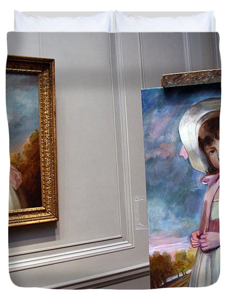 Duvet Cover featuring the photograph A Painting Of A Painting by Cora Wandel